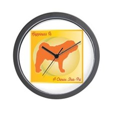 Shar-Pei Happiness Wall Clock