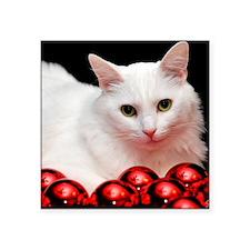 "xmas_cat_rnd Square Sticker 3"" x 3"""