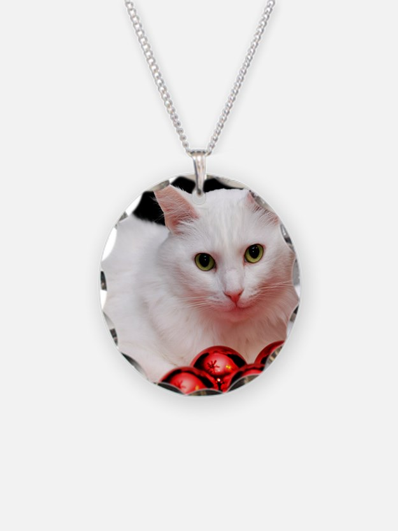 xmas_cat_rnd Necklace