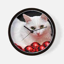 xmas_cat_rnd Wall Clock