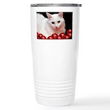 xmas_cat_Lg_framed Travel Coffee Mug