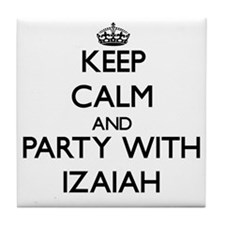 Keep Calm and Party with Izaiah Tile Coaster