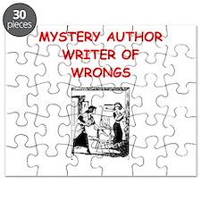mystery writer author joke gifts t-shirts Puzzle