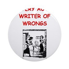 mystery writer author joke gifts t-shirts Ornament