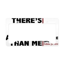 more american than me License Plate Holder