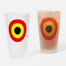 roundel belgium air force Drinking Glass
