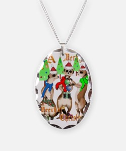 Merry Meerkat Christmas Trans Necklace