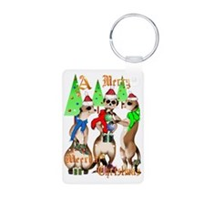 Merry Meerkat Christmas Tr Keychains