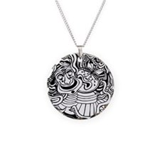 Theater Masks Necklace