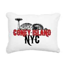 coney_island-nyc-mid Rectangular Canvas Pillow