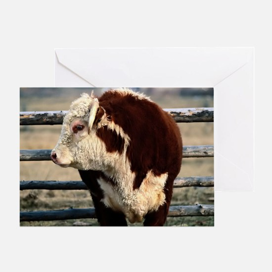 Bull L print Greeting Card