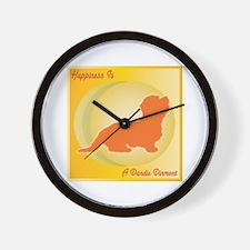 Dandie Happiness Wall Clock