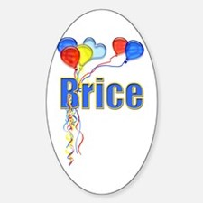Balloons for Brice Oval Decal