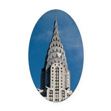 Chrysler Building spire Oval Car Magnet