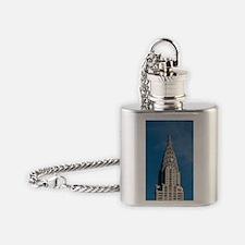 Chrysler Building spire Flask Necklace