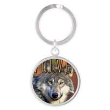 Wolves Wall Calendar Round Keychain