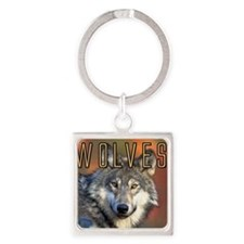 Wolves Wall Calendar Square Keychain