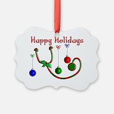 Happy Holidays Stethoscope Ornament