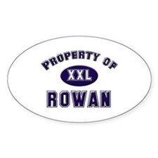 Property of rowan Oval Decal