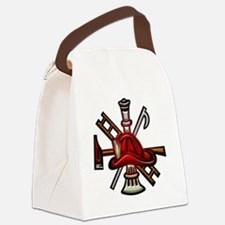 Fire Department Seal Canvas Lunch Bag