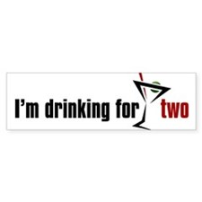 Drinking For Two Bumper Bumper Sticker