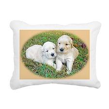 Golden Retriever Puppy W Rectangular Canvas Pillow