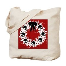 skull-wreath-bow1_j Tote Bag