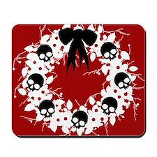 skull-wreath-bow1_j Mousepad