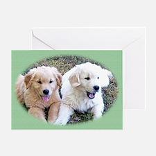 Golden Retriever Puppy Wall Calendar Greeting Card