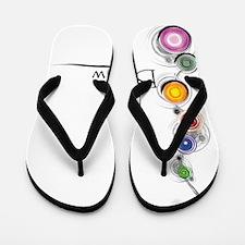 Be Now Chakras for white Flip Flops