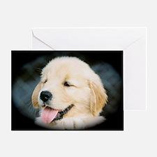Golden Retriever Puppy Calendar Prin Greeting Card