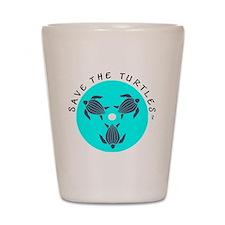 Save the Turtles Blue Logo Shot Glass
