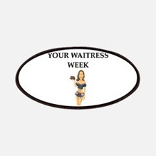 funny waitress tip gfts t-sheris Patches