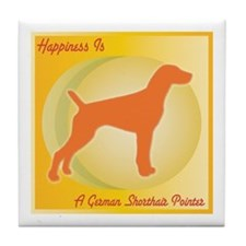 Pointer Happiness Tile Coaster