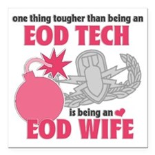 "EOD Wife Square Car Magnet 3"" x 3"""