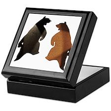 BROWN & BLACK DANCING BEAR 3 Keepsake Box