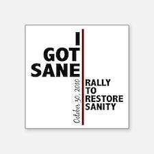"""I got sane Square Sticker 3"""" x 3"""""""