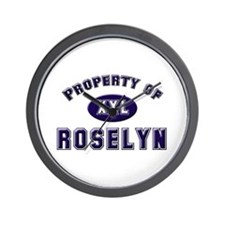 Property of roselyn Wall Clock