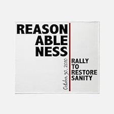 reasonableness Throw Blanket