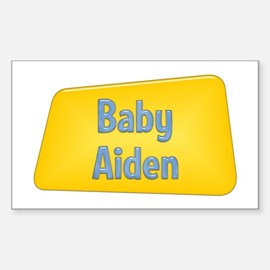 Baby Aiden Rectangle Decal