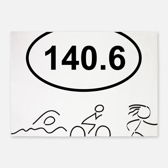 140 Oval w figures 1 5'x7'Area Rug