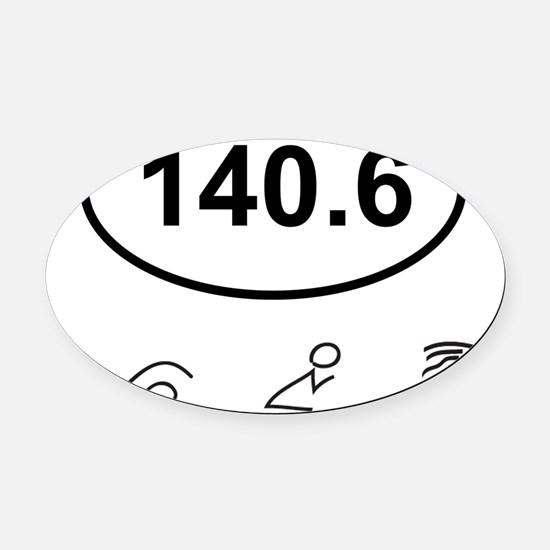 140 Oval w figures 1 Oval Car Magnet