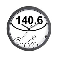 140 Oval w figures 1 Wall Clock