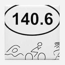 140 Oval w figures 1 Tile Coaster