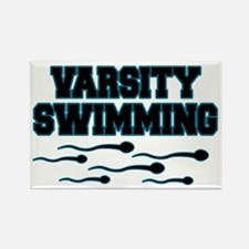 Varsity Swimming Rectangle Magnet