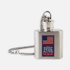 march to keep fear alive Flask Necklace