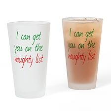 naughty_list Drinking Glass