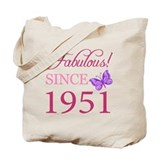 1951 birthday Canvas Totes