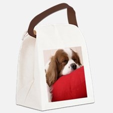 Spaniel round ornament Canvas Lunch Bag