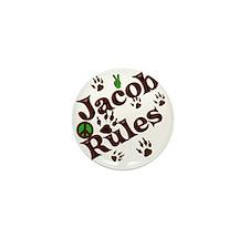 Jacob Rules Blanket Mini Button